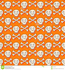 skull wrapping paper happy seamless pattern with stock vector