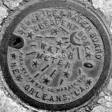 new orleans water meter new orleans water meter cover black white by marquis
