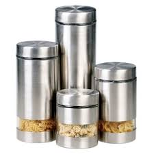 kitchen canisters set of 4 modern kitchen canisters allmodern