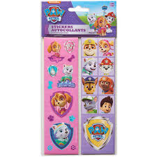 paw patrol pink sticker sheets 8 count party supplies walmart