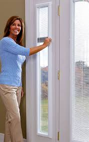 Blinds For Glass Front Doors Add On Enclosed Mini Blinds Add On Door Blinds Western Reflections