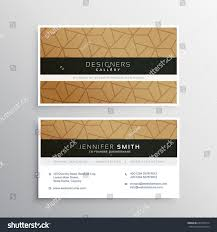 minimal business card design template elegant stock vector