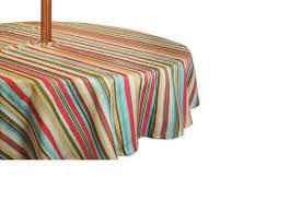 Tablecloth For Umbrella Patio Table by Colorful Striped Zippered Round Umbrella Tablecloth 60