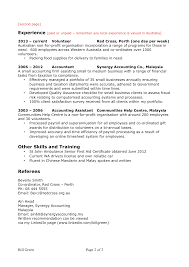 Volunteer Examples For Resumes by Gallery Of Skill Set In Resume Examples For Resume Sample With