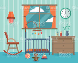 child room for the newborn baby vector flat design stock vector