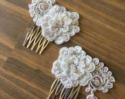 lace accessories lace hairpiece etsy