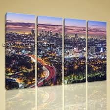 large los angeles california cityscape photography home decor wall