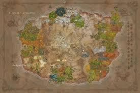 kalimdor map kalimdor pre post sundering oc