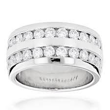 Mens Wedding Ring 2 by Platinum Round Diamond Men U0027s Wedding Ring 2 08ct