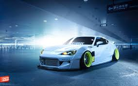 tuned subaru subaru brz vehicle car parking lot tuning wallpapers hd