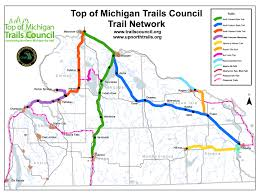 Snowmobile Trail Maps Michigan by Trails Council Northern Michigan Trails