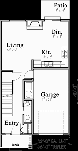 Home Plans Open Floor Plan by Triplex Plans With Basement Row House Plans Open Floor Plan