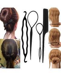 hair bun clip hot sale women 4pcs hair twist styling clip stick bun maker