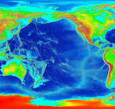 World Elevation Map by Pacific Elevation Map Pacific Ocean U2022 Mappery