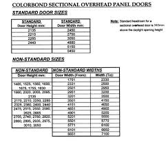 Garage Measurements Door Standards U0026 Door Standards Sizes Rough Openings And Style