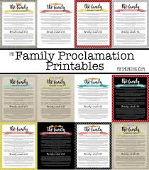 family proclamation my 3 monsters free family proclamation printables