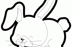 cute bunny eating carrot coloring free printable pages