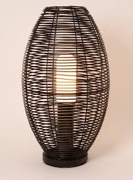 tall rattan floor lamp modern house design tropical styled