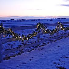 improvements indoor outdoor lighted christmas garland outdoor lighted garland home design ideas and pictures