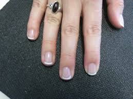 vickie did a nice job with a french manicure on my natural nails