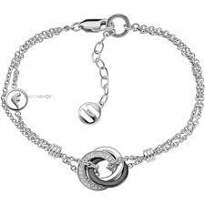 armani bracelet silver images Ladies 39 armani sterling silver ceramic bracelet eg3079040 jpg
