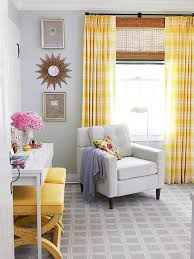 fancy yellow walls blue curtains designs with blue yellow gray