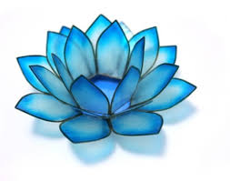 turquoise flowers chakra lotus candle holder in turquoise robyn nola gifts