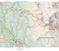 Baxter State Park Map by Hermann