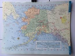 Alaska On The Map Vintage 1965 Hammond U0027s World Atlas Map Page Alaska On One Side