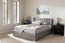 Modern Platform Bed Queen Modern Queen Platform Bed With Storage Drawers Style Best Queen