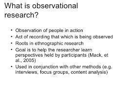 observational research version 1