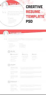 creative resume templates free download psd format to html creative free resume templates 64 images 22 free creative