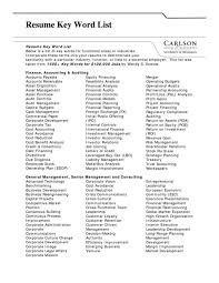 Adjectives To Use In Resume Resume Strong Words Lukex Co