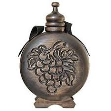 Wooden Flasks Bulgarian Traditional Wedding Gift Wooden Flask Carving Vessel