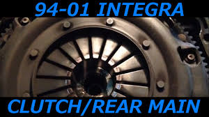 acura integra 94 01 clutch transmission and rear main seal removal