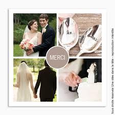 faire part de remerciement mariage remerciements mariage classique merci