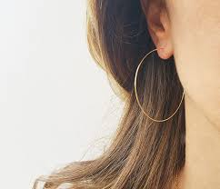 gold earrings for women images gold hoops earrings big wire earrings 14k gold filled hoops
