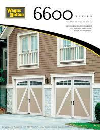 steel carriage garage doors 6600 wayne dalton pdf catalogues documentation brochures