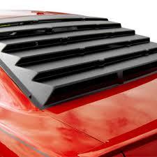 mustang rear louvers msi 22013 rear window louvers unpainted