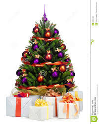 Decorated Christmas Tree Sale by Decorated Christmas Tree On White Background Stock Photo Image