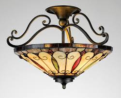 wrought iron flush mount lighting stained glass light fixtures dining room pictures pinterest