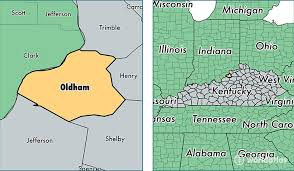 map of oldham oldham county kentucky map of oldham county ky where is