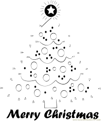 coloring pages decorative connect dots christmas coloring