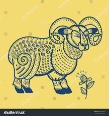 ram animal sheep totem animal vector stock vector 346275824