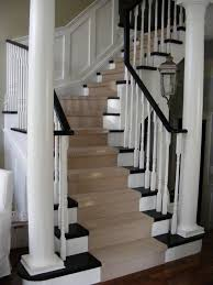 stair tread carpet staircase traditional with black and white