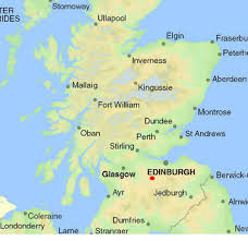 map of scotland and luxury vacation rentals to edinburgh and glasgow airports