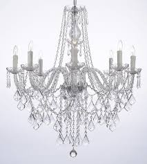 Upside Down Crystal Chandelier Astoria Grand Anton 8 Light Crystal Chandelier U0026 Reviews Wayfair