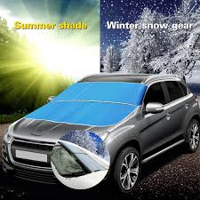 subaru snow meme car front window sun shade visor windshield snow frost summer