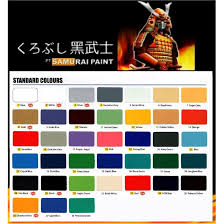 samurai spray paint standard colour clear white g loss black red