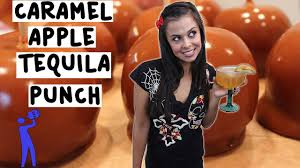 how to make caramel apple tequila punch tipsy bartender youtube